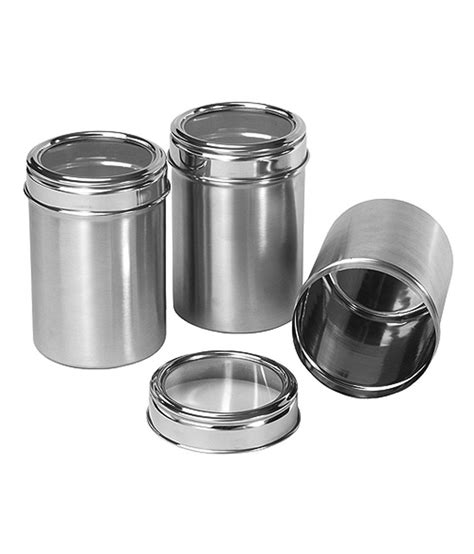 kitchen canister sets stainless steel dynore stainless steel kitchen storage canisters dabba