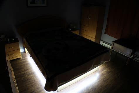 diy bedroom   bed led lighting endend zone