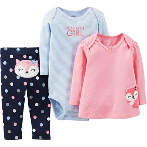 Child Of Mine Three Piece Set Elephant | Walmart Clothing and Child
