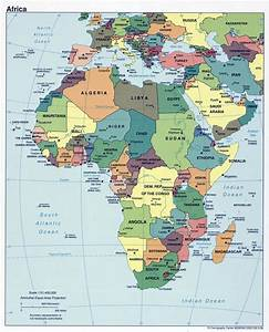 Large political map of Africa with capitals – 1999 ...