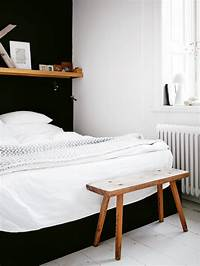 black and white bedroom decordots: black and white and wood