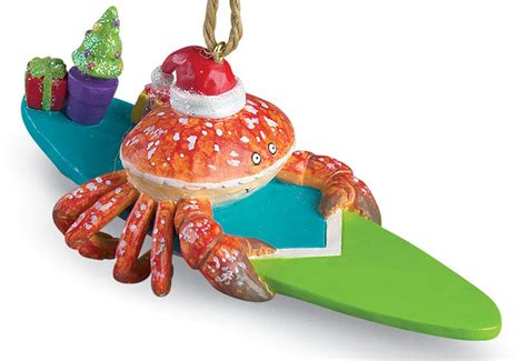 surfing red crab surfer dude christmas ornament ebay