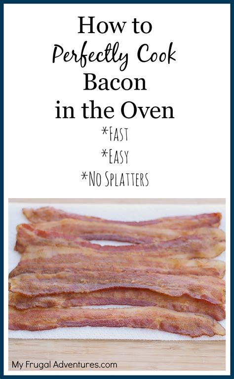 how to make bacon in the oven how to bake perfect bacon grab go breakfast idea my frugal adventures
