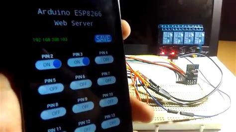 arduino esp8266 web server relay