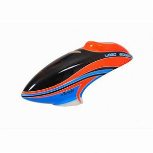 Neon Red Blue Canopy LOGO 600 SX V2 RB1 RC