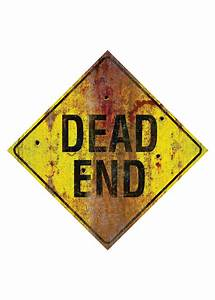 Dead End Metal Sign - Decorations