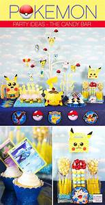Deco Anniversaire Pokemon : pokemon party ideas how to set up a pokemon candy bar ~ Nature-et-papiers.com Idées de Décoration