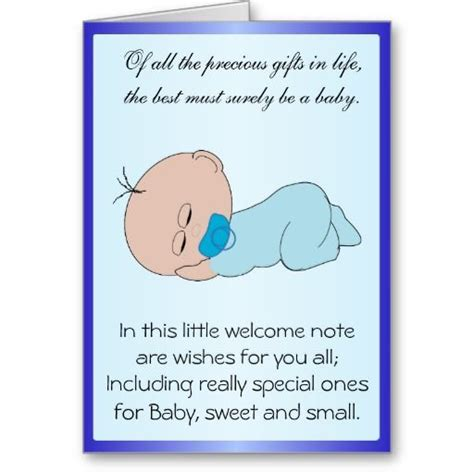 Message For Newborn Baby Boy  New Born Baby Boy Cards