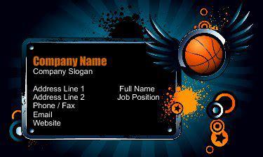 team sports business card design ideas uprinting