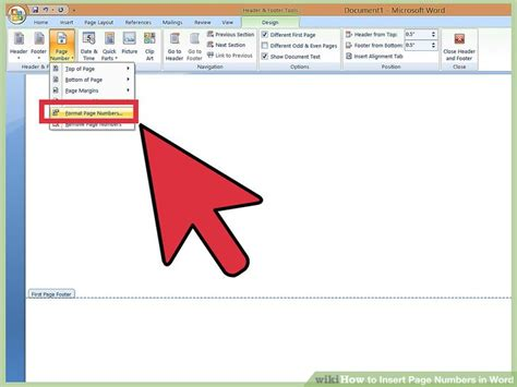 3 ways to insert page numbers in word wikihow