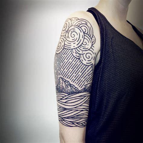 imaginative  sleeve landscape tattoos  lisa orth