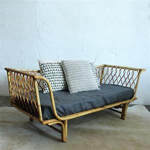Lit Enfant Rotin : banquette lit rotin day bed vintage atelier du petit parc ~ Teatrodelosmanantiales.com Idées de Décoration