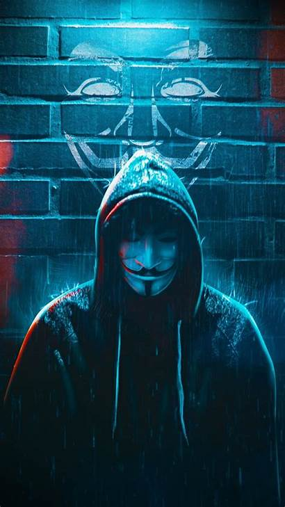 Anonymous Mask Guy Wallpapers Oneplus Iphone Rain