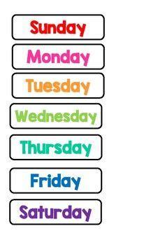 calendar days   week today tomorrow yesterday