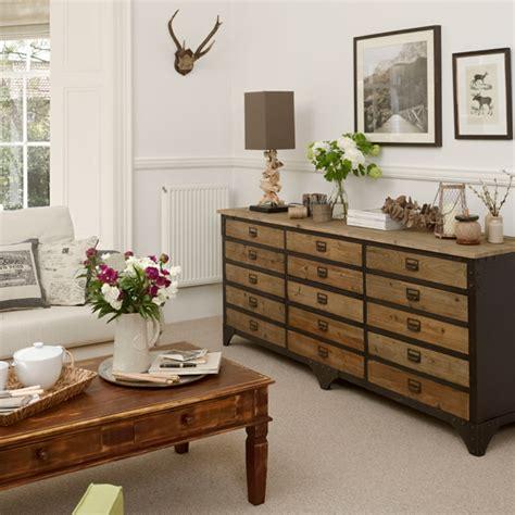 neutral living room  chest  drawers living room