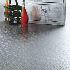 Revetement De Sol Pour Garage : rev tement sol pvc design metallica 4 m castorama ~ Dailycaller-alerts.com Idées de Décoration