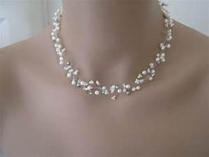 Collier pour mariage pas cher le son de la mode for Robe pour mariage cette combinaison collier perle mariage