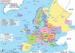 Labeled Map Of Europe With Capitals | Map Of World