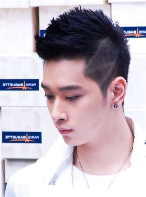 hairstyle  square face male asian wavy haircut