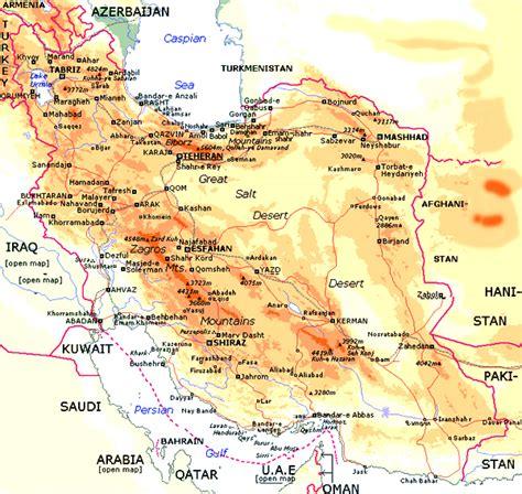 Persian Gulf and Caspian Sea