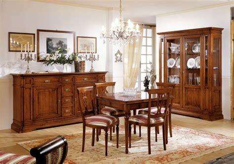 mobili sala da pranzo classica sala da pranzo classica in legno massello colore noce