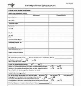 Mietvertrag Kostenlos Pdf : selbstauskunft mieter vorlage word kebut ~ Frokenaadalensverden.com Haus und Dekorationen