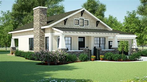 simple single story bungalow placement architectural designs