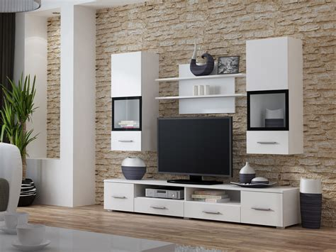 Living Room White Wall Unit / Entertainment