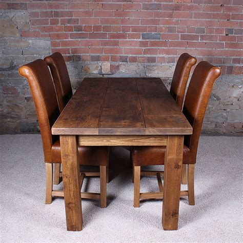 all wood dining table solid wood dining table by h f notonthehighstreet com