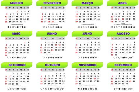 gabarito calendario verde roxo imagem legal