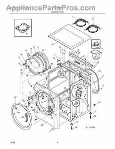 Parts For Electrolux Eiflw55hiw0  Cabinet    Top Parts