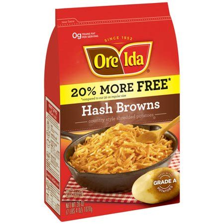 Oreida Hash Browns Country Style Shredded Potatoes, 36 Oz