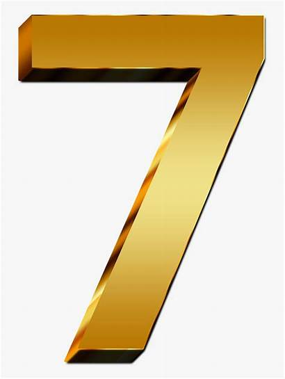 Number Seven Numero Digit Pay Yellow Transparent
