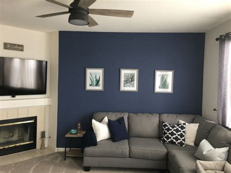 navy wall color is behr in quot channel quot home inspo