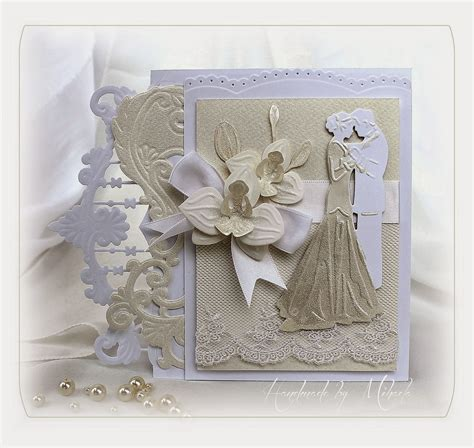 handmade  mihaela wedding card