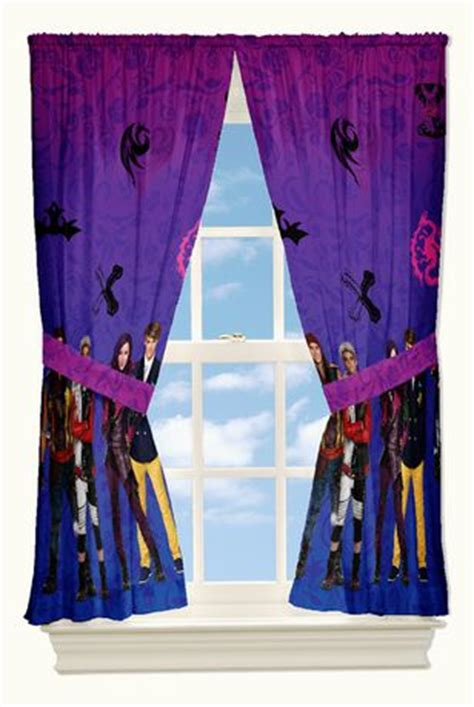 disney descendants auradon damask drapes walmart canada