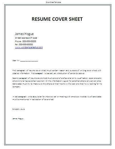 resume title page best resume gallery