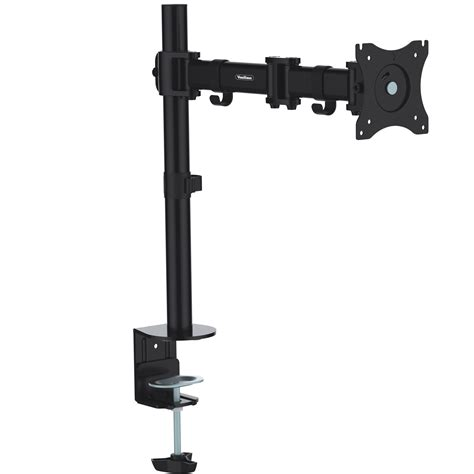 computer monitor arms desk mount vonhaus single arm lcd led monitor desk stand mount for 13