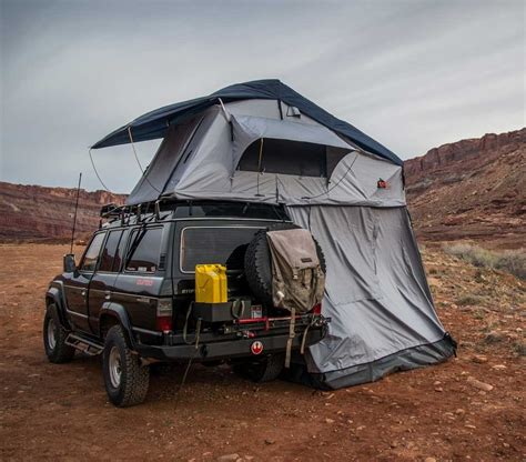 jeep grand cherokee roof top tent autana ruggedized sky pf adventure
