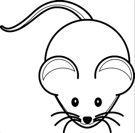 mouse coloring images