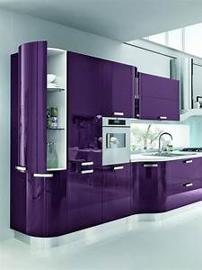 purple kitchen ideas for unique and modern look diy home art With what kind of paint to use on kitchen cabinets for black and purple wall art