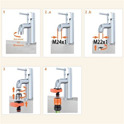 adaptateur tuyau d arrosage sur robinet de cuisine adaptateur mitigeur ou robinet pour raccord rapide arrosage plomberie