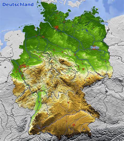 Deutschland Topographische Karte