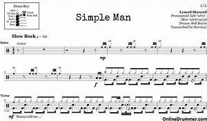 Simple Man – Lynyrd Skynyrd – Drum Sheet Music ...