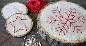 Holz Basteln Weihnachten : baumscheibe holzanhanger basteln zu weihnachten christmas ~ Orissabook.com Haus und Dekorationen