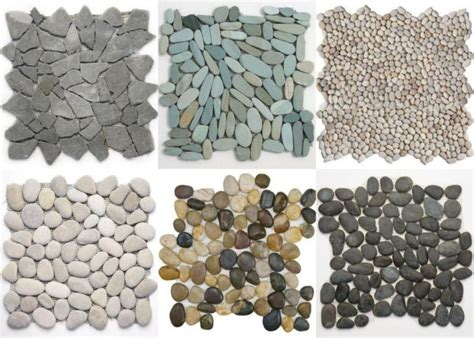 Pebble Stones Modern Setting by Pebble Mosaic Placemats Maybe For Center Pieces