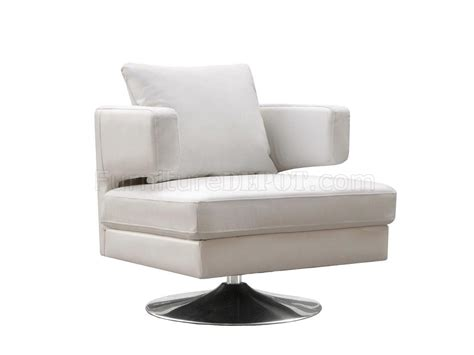 white chocolate or black leather modern swivel club chair