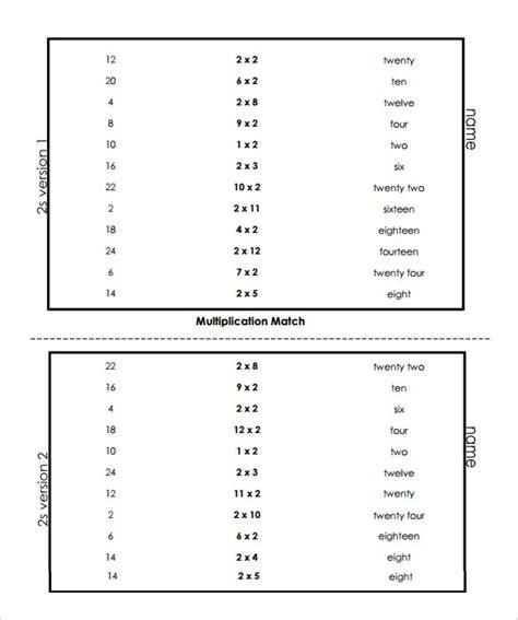 sle vertical multiplication facts worksheet 8 documents in pdf