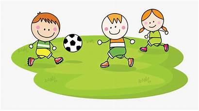 Playing Football Clipart Cartoon Children Child Soccer