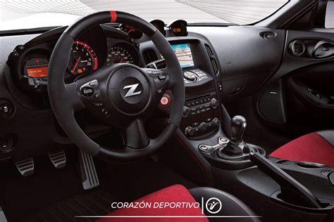 Por dentro, el Nissan 370Z NISMO también refleja un espíritu deportivo.   Nissan 370z, Nissan ...